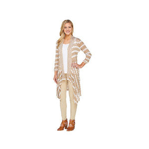 Attitudes by Renee Open Front Printed Cardigan